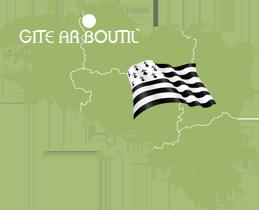 Localisation Gîte Ar Boutil : location gîte Côte de granit rose, Côtes d'Armor, Bretagne
